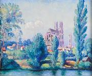 Helge Johansson Mantes France oil on canvas